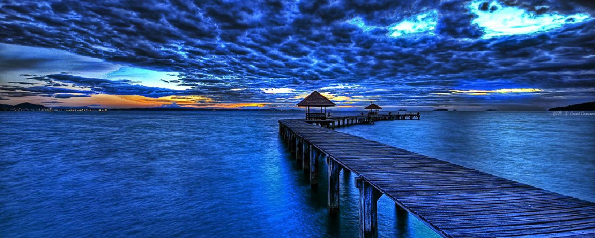 Blå morgon